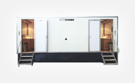 Vacuum toilet trailer for events